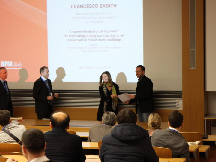 """LoLo PhD researcher wins """"Best Paper Award"""" at """"Building Simulation Applications 2017: 3rd IBPSA-Italy Conference"""""""