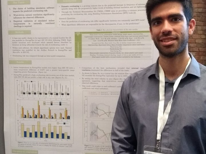 UCL LoLo CDT  Student Giorgos Petrou presented  at the 38th AIVC Conference in Nottingham