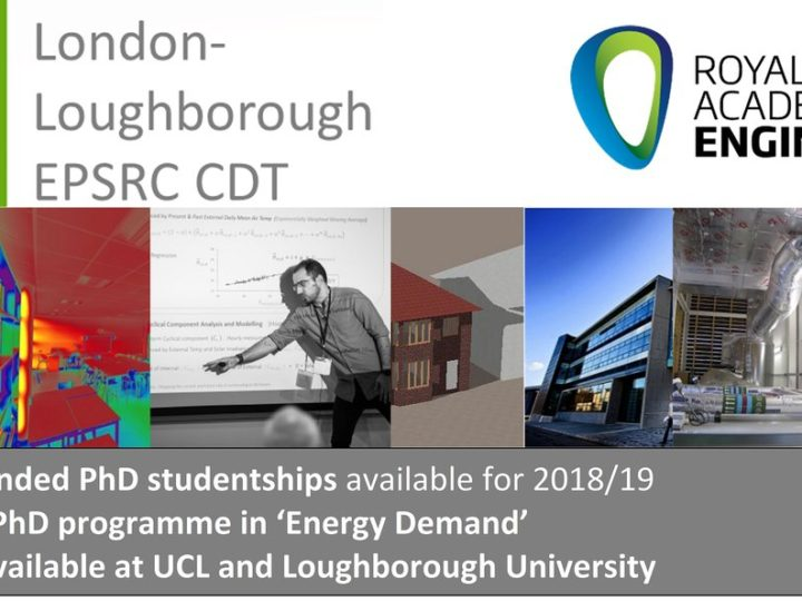 3rd Round of Recruitment open for 2018/19 – Fully-funded studentships available